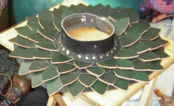 Leather Scale Gorget